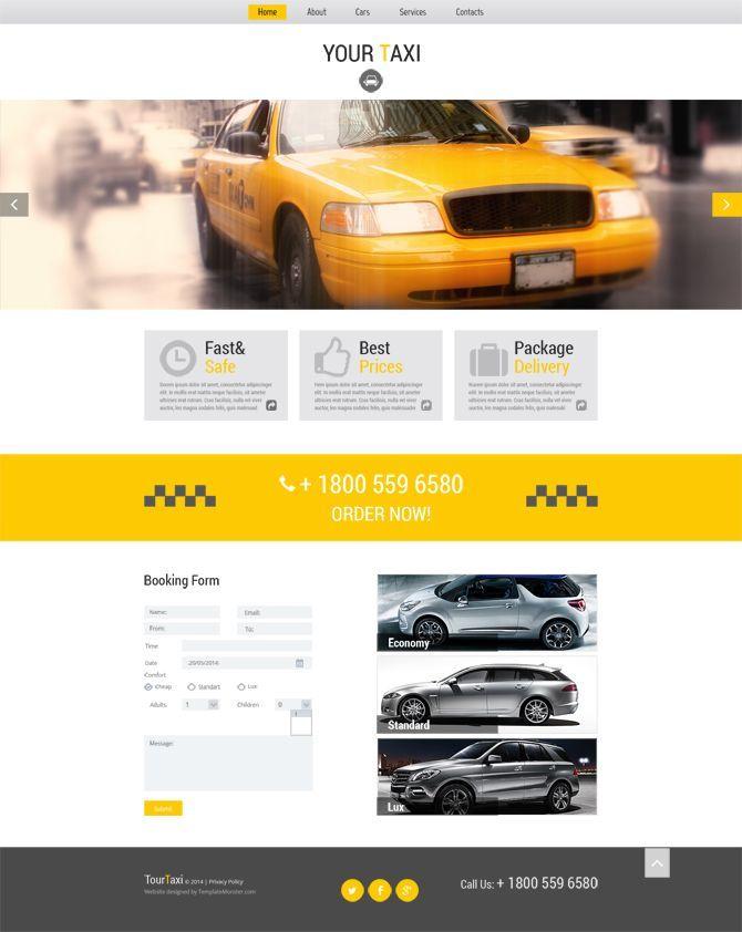 Шаблон сайта такси бесплатно скачать